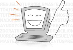 ordenador contento