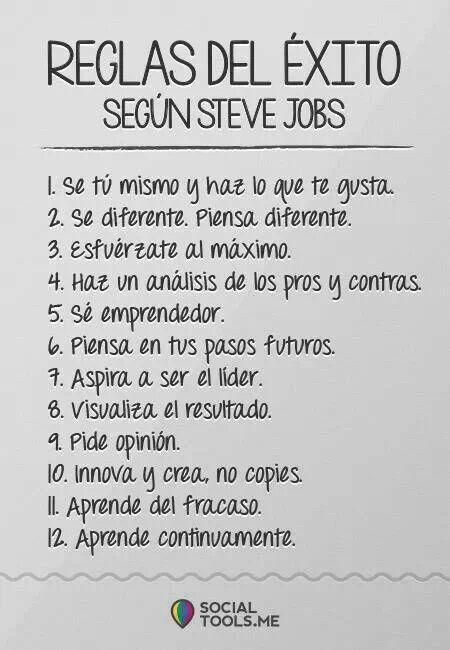 12 Reglas del éxito.